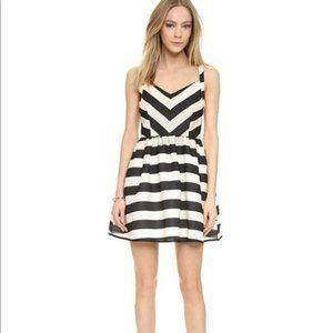 Line & Dot Kelly Stripped Dress Open Back Pockets